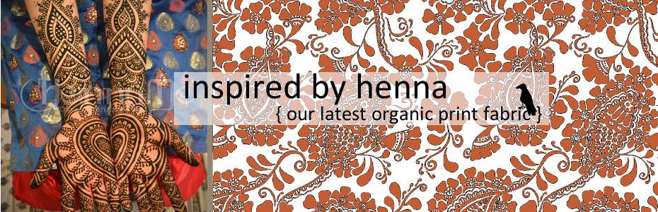 Henna Tattoo Organic fabric print