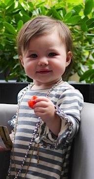 Adooka Organics gray stripe organic toddler dress