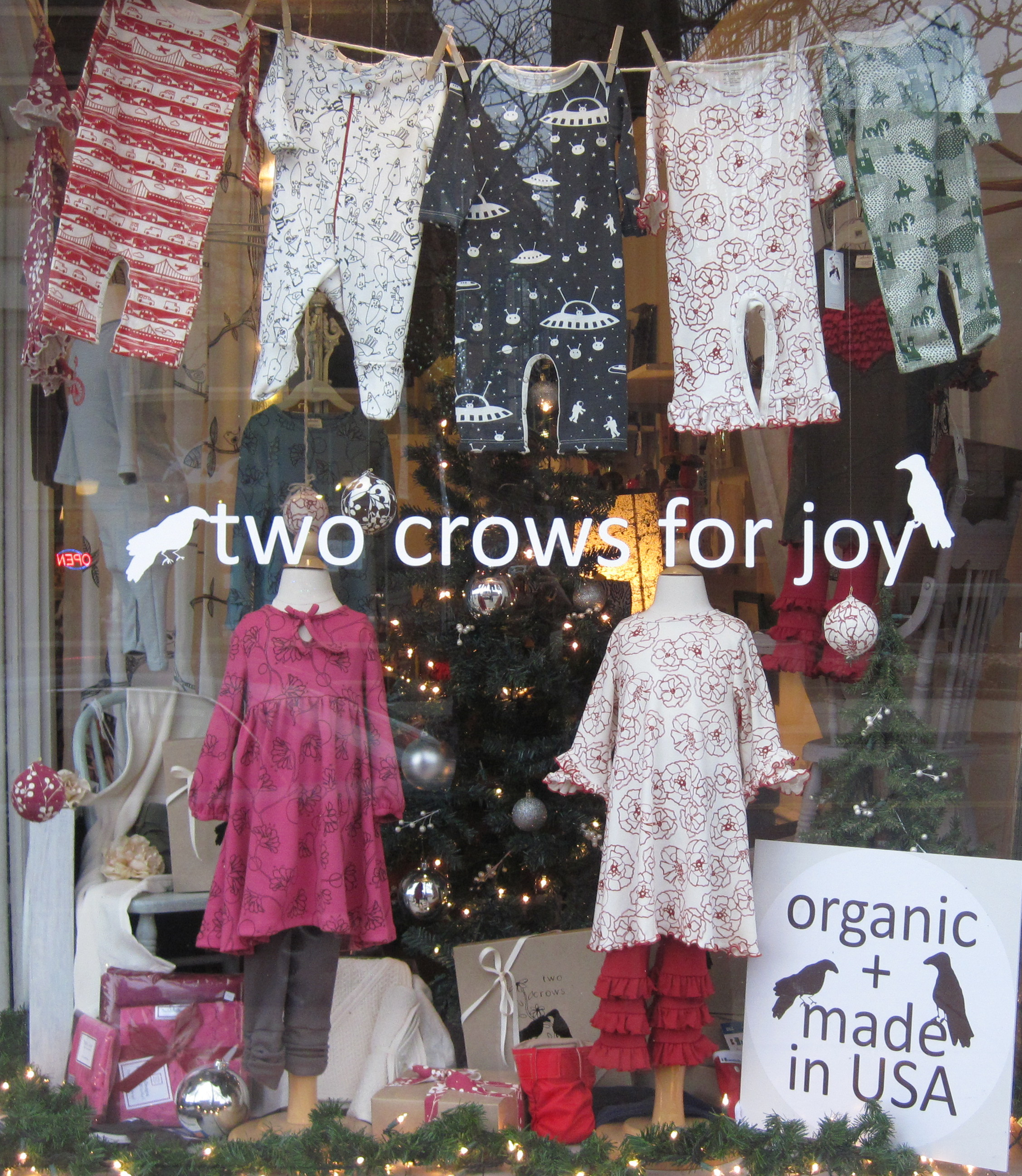 Two Crows for Joy boutique children's clothing store in Shaker Heights, Ohio OH