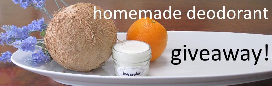 Homemade deodorant giveaway