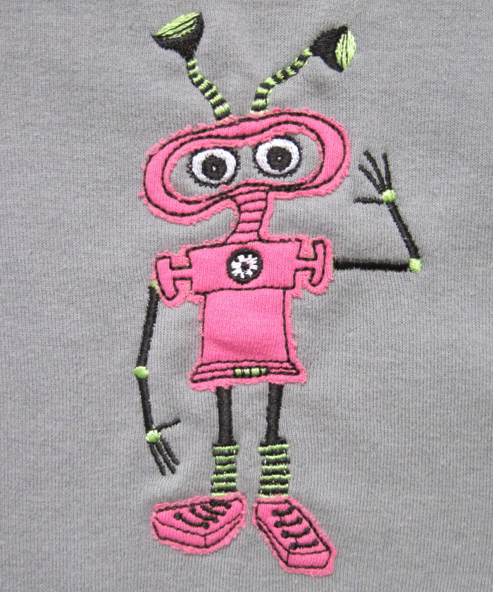 Robot for girls baby clothes