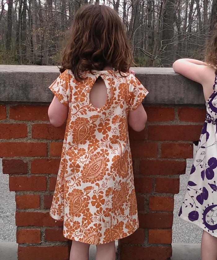 Adooka Organics Henna teardrop tshirt girls dress American made